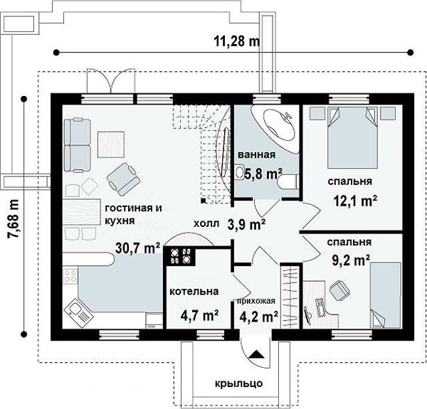 D 4 for Planos de departamentos de 40m2
